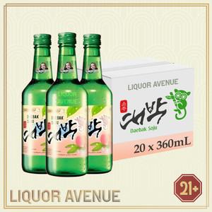 Foto Produk Daebak Soju Peach 360ml - 1 karton isi 20 botol dari Liquor_Avenue