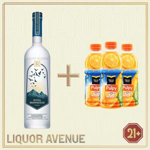 Foto Produk Royal Brewhouse Vodka 750ml + 3 Botol Pulpy Orange dari Liquor_Avenue