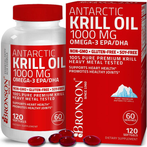 Foto Produk Bronson Vitamin Antarctic Krill Oil 1000 mg - Suplemen Omega 3 dari NaturesBloom