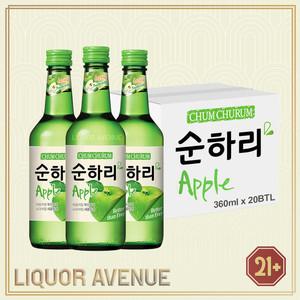 Foto Produk Lotte Chum Churum Apple Korea Soju 360ml - 1 karton isi 20 botol dari Liquor_Avenue