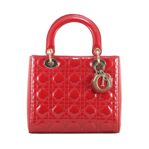 Foto Produk Dior Lady Dior in Red Patent Leather GHW I10765C dari SECOND CHANCE
