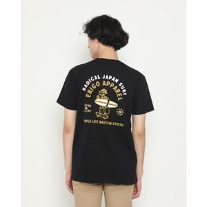 Foto Produk Kaos Pria Erigo T-Shirt Radical Surf Cotton Combed Black - S dari Erigo Official