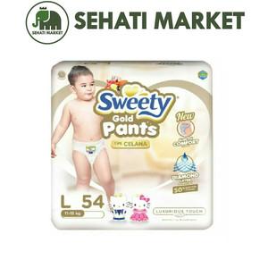 Foto Produk tokopopoksehati   SWEETY Gold Pant Popok Celana L 54 L54 Murah Promo dari SEHATI MARKET