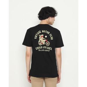 Foto Produk Kaos Pria Erigo T-Shirt Motor Club Cotton Combed Black - M dari Erigo Official