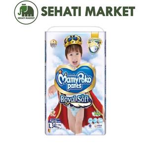 Foto Produk MAMYPOKO Pants Extra Dry Extra Soft Royal Soft Boy L34 L 34 dari SEHATI MARKET