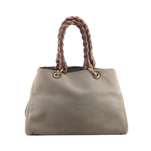 Foto Produk Bottega Veneta Khaki Sardegna Canvas Tote Bag I10855C dari SECOND CHANCE