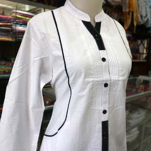 Foto Produk perempuan dewasa baju tunik muslim santri putri remaja putih ODYS dari Macco St