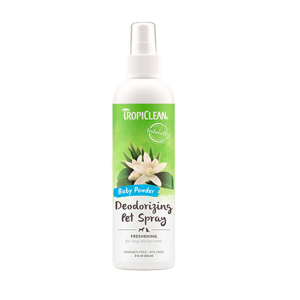 Foto Produk tropiclean 236 ml (8 oz) baby powder deodorizing pet spray dari F.J. Pet Shop
