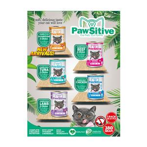 Foto Produk pawsitive 380 gr kitten to adult ocean fish and chicken dari F.J. Pet Shop