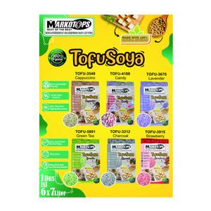 Foto Produk markotops 7 L tofusoya green tea clumping cat litter dari F.J. Pet Shop