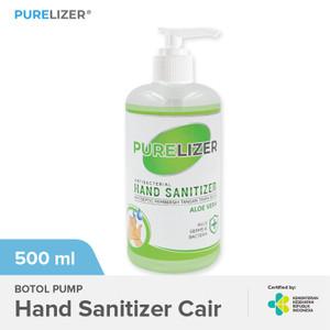 Foto Produk Hand Sanitizer 500ml Cair [Izin KEMENKES] PURELIZER Handsanitizer Pump dari Purelizer