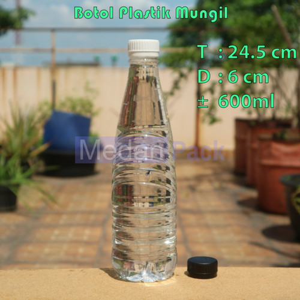 Foto Produk Botol Plastik Mungil 600 ml per 104 pcs dari Medan Pack