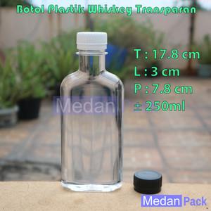 Foto Produk Botol Plastik Whiskey 250 ml per 12 pcs dari Medan Pack