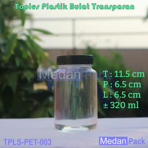 Foto Produk Toples Plastik Bulat Transparan 320 ml per 77 pcs dari Medan Pack