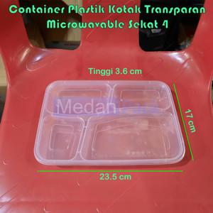 Foto Produk Container Thinwall Microwavable RT Sekat 4 Victory per 25 pcs dari Medan Pack