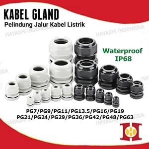 Foto Produk Gland Cable Kabel Glan Waterproof PG 7 9 11 13.5 16 19 21 Hitam Putih - PG7, Tanpa Bubble dari Hayashi Indonesia