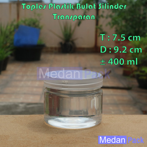 Foto Produk Toples Plastik Bulat Silinder SP 400 ml dari Medan Pack