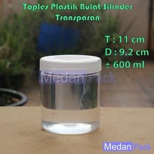 Foto Produk Toples Plastik Bulat Silinder SP Ekonomis Murah 600 ml dari Medan Pack