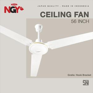 "Foto Produk Kipas Angin Plafon NAGOYA (Ceiling Fan) 56"" - Baling Besi - NG56CF - Putih dari Nagoya Electronics"