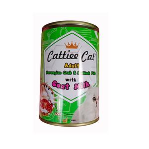 Foto Produk cattiee cat 405 gr adult norwegian crab haddock fish with goat milk dari F.J. Pet Shop