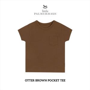 Foto Produk Little Palmerhaus - Pocket Tee 3.0 (Kaos Bayi & Anak) 1-6 Tahun - OTTER BROWN, 1 Year dari Little Palmerhaus