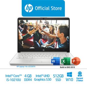 Foto Produk HP 14s-cf2500TX &14s-cf2501TX Laptop/Corei5/4GB/512GBSSD - Silver dari HP Official