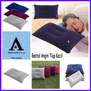 Foto Produk Bantal Angin Kepala Kecil Tiup Untuk Travel / Travel Pillow - Abuabu dari Allstore Indonesia