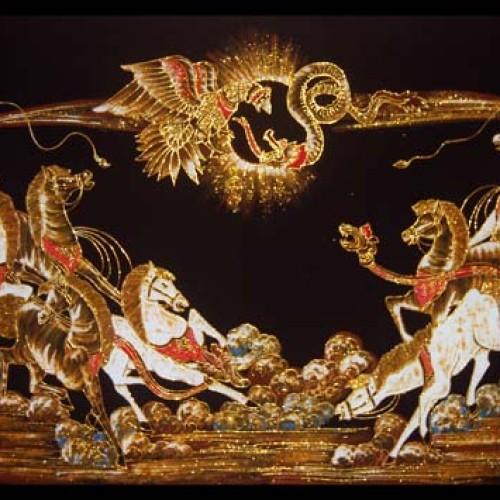 Foto Produk Lukisan Karno Tanding dari Batik Setya
