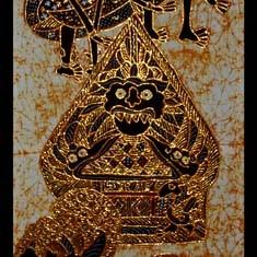 Foto Produk Lukisan Pandawa Lima dari Batik Setya