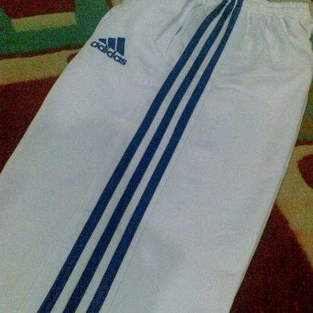 Foto Produk Adidas - Celana Training (Putih/Biru) dari Clubkaos