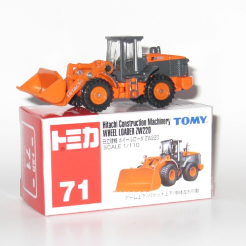 Foto Produk #071 Hitachi Construction Wheel Loader ZW220 (TB) - STOK  HABIS dari Tomica Shop