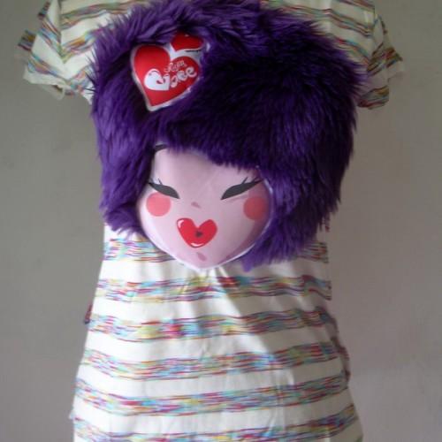 Foto Produk T'shirt muka bulu ungu dari Opium Babe ^