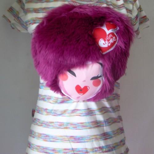 Foto Produk T'shirt muka bulu ungu muda dari Opium Babe ^