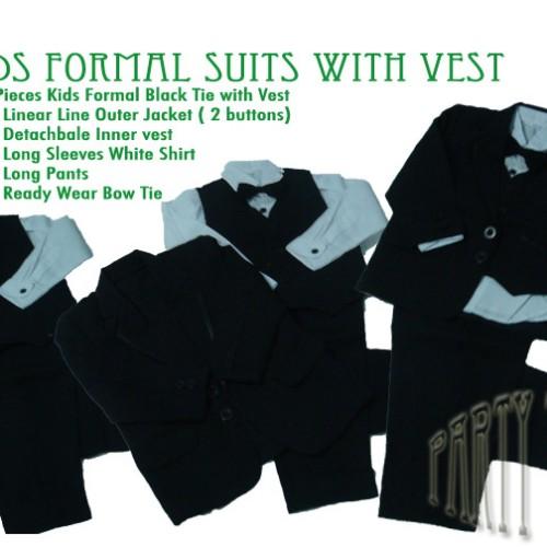 Foto Produk Tweetzie Clothing -  Kids Formal Suits with Vest dari Upcoming Party Tweet