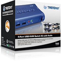 Foto Produk TRENDnet 4-PORT USB KVM Swicth With Audio dari EVERYTHING4U