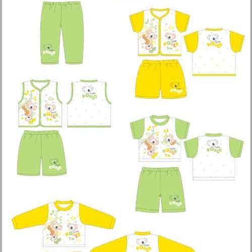 Foto Produk Baju Baby Cloe Motif Bear Baju Kutung + Celana 3/4 dari Sejati Cell