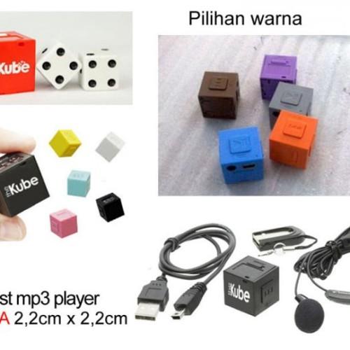 Foto Produk The Kube Mp3 Player Terkecil INCLUDE MicroSD 2GB dari E-Cigarette Shop