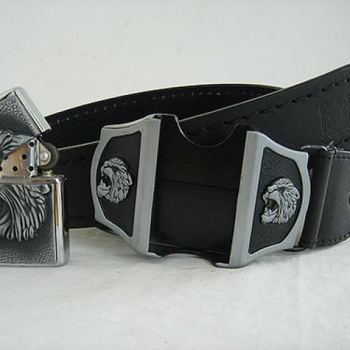Foto Produk Ikat Pinggang - Genuine Leather Belt+Zippo dari Brugakkanza