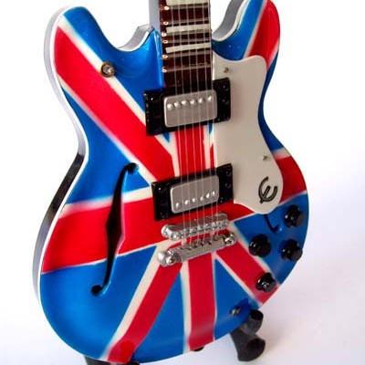 Foto Produk Miniatur Gitar Epiphone Union Jack Noel Gallagher OASIS dari Exclusive Miniature