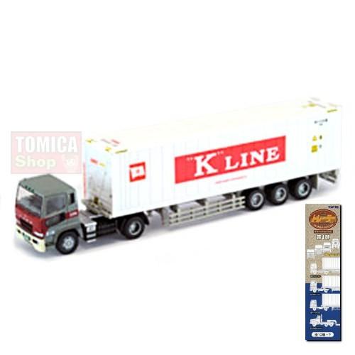 Foto Produk Tomytec Trailer Collection Vol.04 #05 Mitsubishi Fuso Refrigerated Container K Line White - STOK HABIS dari Tomica Shop