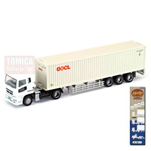 Foto Produk Tomytec Trailer Collection Vol.04 #03 Mitsubishi Fuso Container OOCL Cream - STOK HABIS dari Tomica Shop
