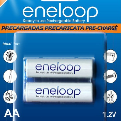 Foto Produk [Baterai Rechargeable] Sanyo Eneloop AA (2 Buah) 2000 MAH dari Luag's Webstore