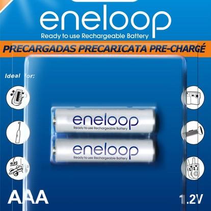 Foto Produk [Baterai Rechargeable] Sanyo Eneloop AAA (2 Buah) 800 MAH dari Luag's Webstore