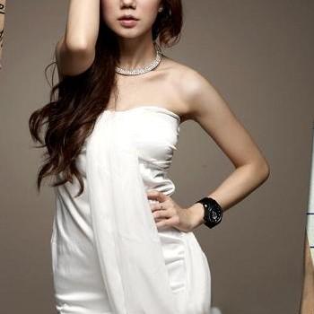 Foto Produk white chiffon dress dari Yupi