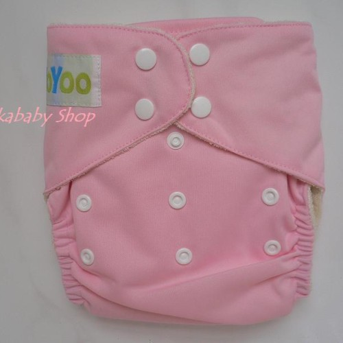 Foto Produk YoYoo Organic Bamboo Cloth Diaper Pink dari Momme Nastka-Nastkababy