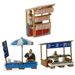 Foto Produk Tomytec Diorama JK002 Street Stall A - STOK HABIS dari Tomica Shop