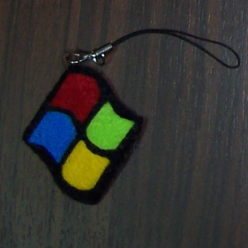 Foto Produk Gantungan HP Black Windows (GTP01) dari Flanel Cantik