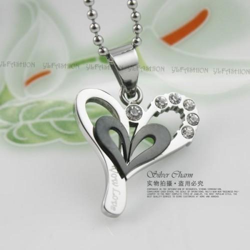 Foto Produk Kalung Silver Black Love dari KLIKHADIAH