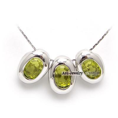 Foto Produk Swarovski Crystal Necklace - Three Eggs Elements Kuning dari KLIKHADIAH
