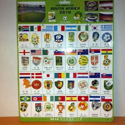 Foto Produk Pin Set 32 Negara - FIFA 2010 dari Soccer House